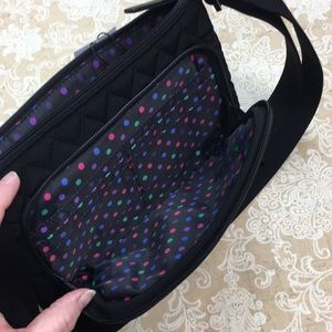 Vera Bradley Bags - Vera Bradley Black Little Hipster Crossbody Bag